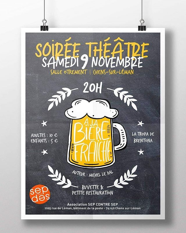 Affiche Theatre Sep contre Sep