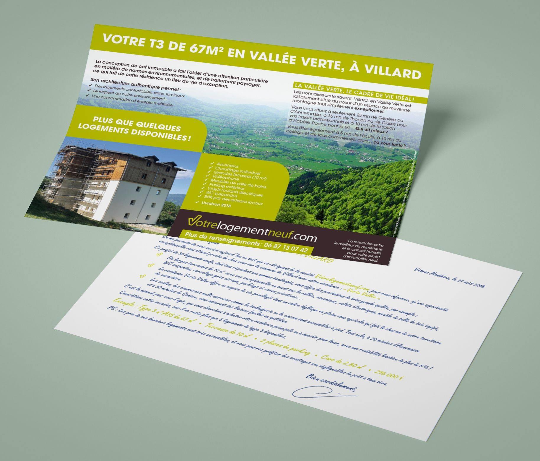 Flyer promotion immobilière Villard