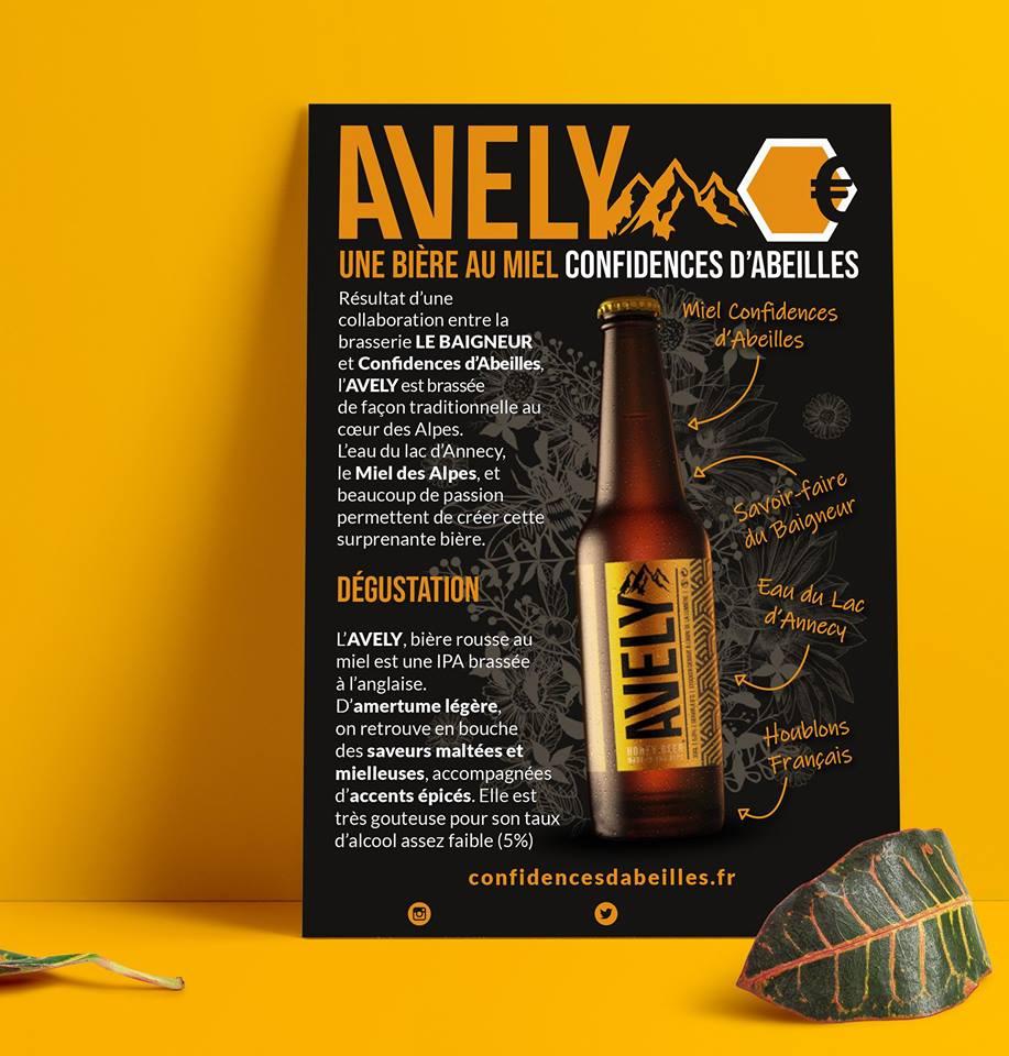 Flyer Bière au miel Avely