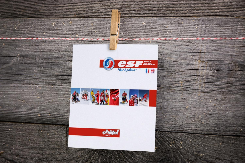 Brochure Ecole du Ski Français Châtel