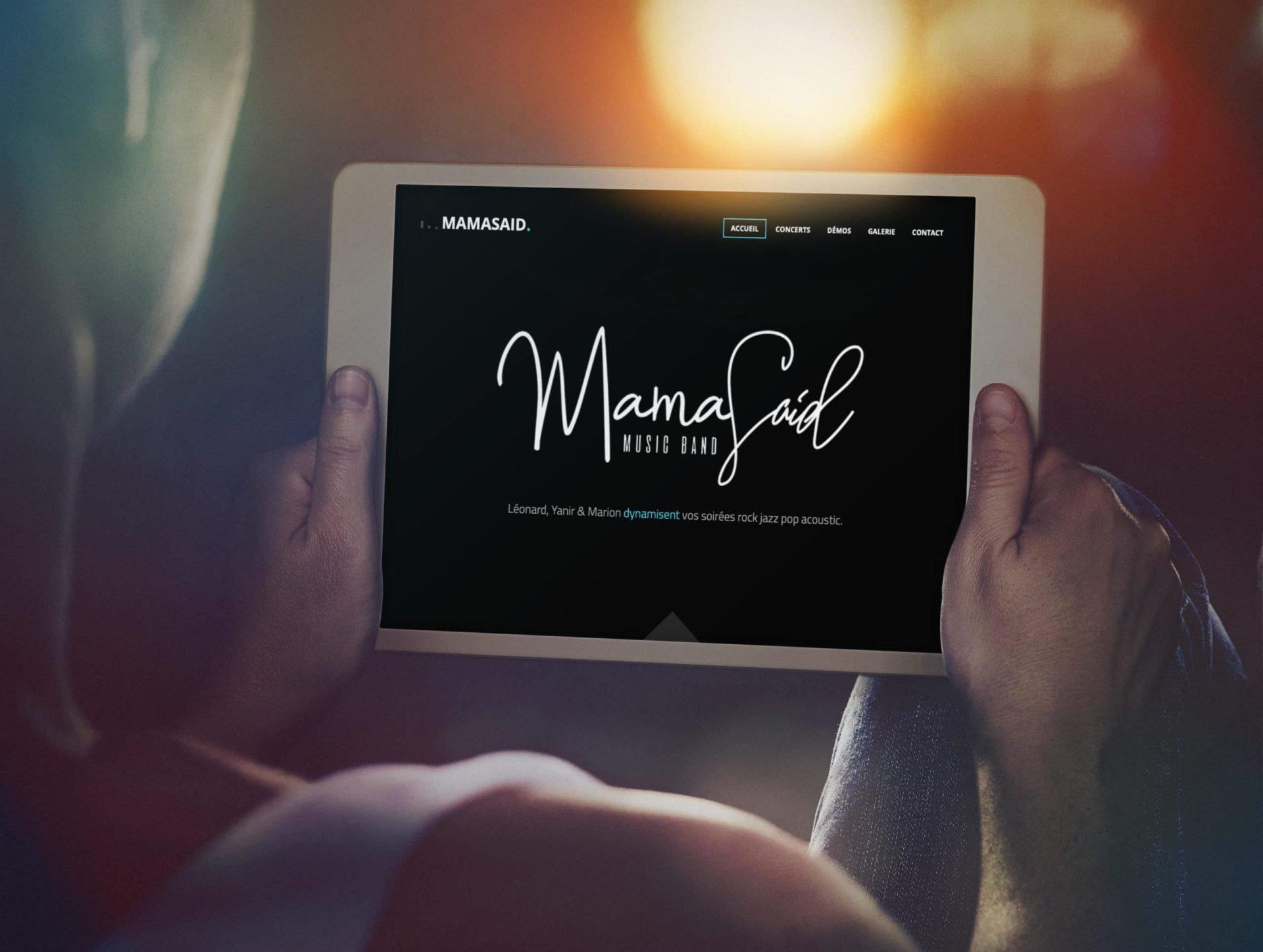 Site internet MamaSaidBand