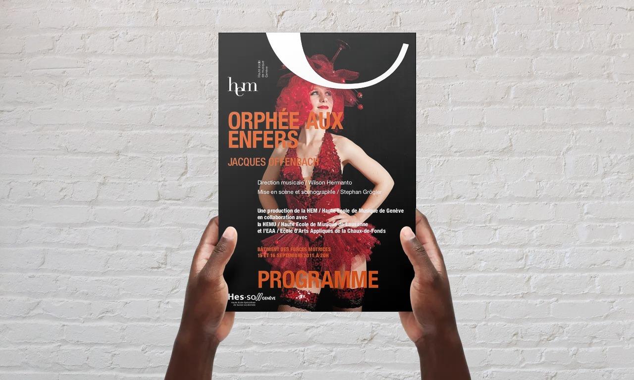 Programme Spectacle Orphée aux Enfers