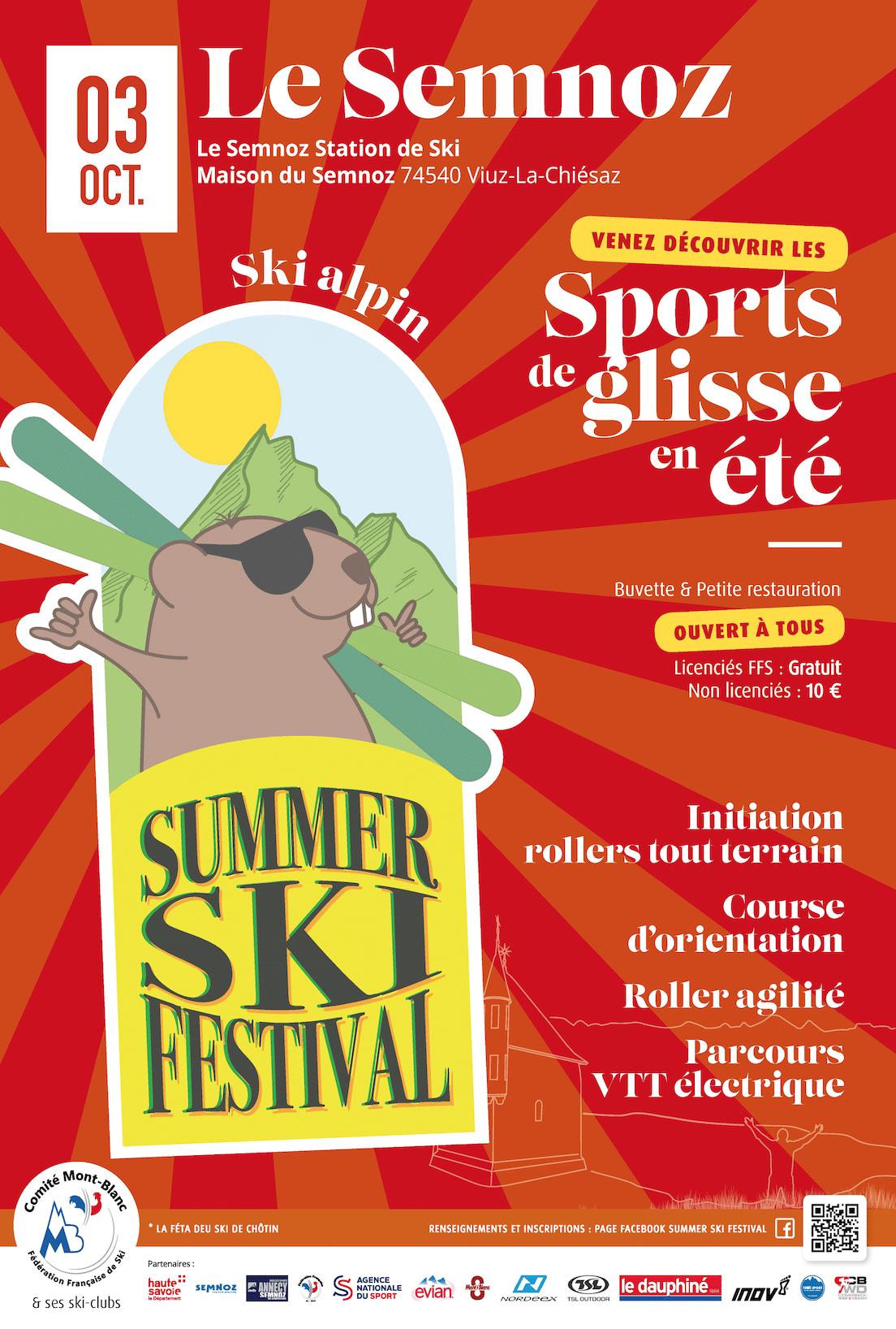 Summer Ski Festival par commback web and design